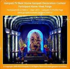 Vivek Pange Home Ganpati Picture View more pictures and videos of Ganpati Decoration at www. Decoration Pictures, Decorating With Pictures, Ganpati Picture, Ganpati Decoration At Home, Ganpati Festival, Festival Decorations, More Pictures, Picture Video, Rocks