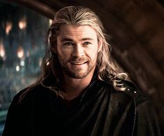 Chris Hemsworth as Thor ... The only guy that could get it even with the long hair.
