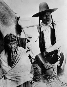 105 yr old woman and her son.  Old Photos - Cree | www.American-Tribes.com
