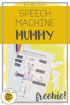 This cute speech therapy craft is perfect for students to learn their speech mechanism!  It makes a fun Halloween activity for your speech sessions too!