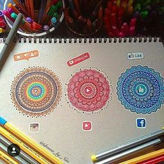 Social Media Mandala Instagram YouTube Facebook
