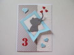 Geburtstag - Karte zum Geburtstag, mit Wunschzahl, Jungen,  - ein Designerstück von SF-Design bei DaWanda