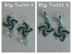 How to make seed bead earrings - twist stitch tutorial (part Seed Bead Tutorials, Beading Tutorials, Beaded Jewelry Patterns, Beading Patterns, Seed Bead Earrings, Beaded Earrings, Earring Tutorial, Beads And Wire, Bead Weaving
