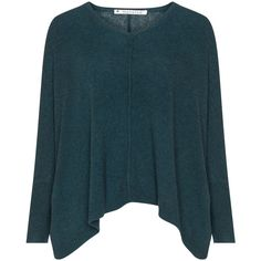 Mansted Petrol Plus Size Oversized jumper (904380 PYG) ❤ liked on Polyvore featuring tops, sweaters, petrol, plus size, plus size jumpers, womens plus sweaters, oversized v neck sweater, blue v neck sweater and blue knit sweater