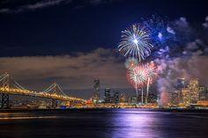 New Year Fireworks (Embarcadero, Frisco) by Pete Piriya, via 500px