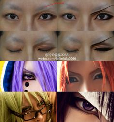 boy character's eyes makeup tutorial by ~0066 on deviantART