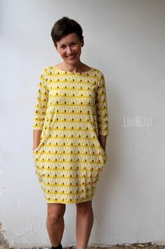 kleid von Leni Pepunkt Shirtkl… liiviundliivi: The round must be in the square – Kantig.kleid by Leni Pepunkt Shirt dresses >>> Sewing Dress, Love Sewing, Sewing Clothes, Diy Clothes, Clothes For Women, Diy Fashion, Ideias Fashion, Womens Fashion, Dress Outfits