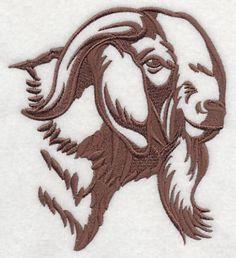 Cabras Boer, Show Goats, Goat Logo, Goat Art, Boer Goats, Face Template, Goat Farming, Barn Quilts, Machine Embroidery Designs