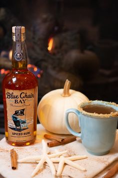 The Hot Buttered Rum cocktail recipe will keep you warm by the fire.🔥 ⁠This fall cocktail recipe is the perfect drink for a night at home. Mix the butter, sugar, and spices in the bottom of a mug. Pour in rum and top with hot water. Get cozy next to a fireplace and enjoy! #bluechairbay #spicedrum #BCBHappyHour Rum Cocktail Recipes, Hot Buttered Rum, Fall Cocktails, Spiced Rum, Getting Cozy, Brown Sugar, Spices, Fire, Mugs