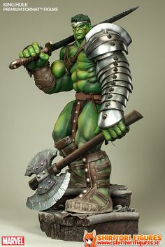 Figures Comics / Movies : Marvel Premium Format Figure King Hulk 71 cm ( Sideshow Collectibles )