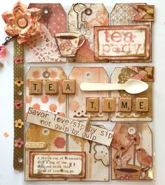 A Tea Time Pocket Letter by Jackie Benedict