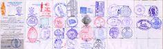 Los peregrinos recogen sellos de pueblos diferentes durante su viaje y los muestran al llegar a Santiago de Compostela. Sirven como verificación que la persona ha completado la peregrinación.  Estos sellos son de una ciclista que completó el viajo por bicicleta.