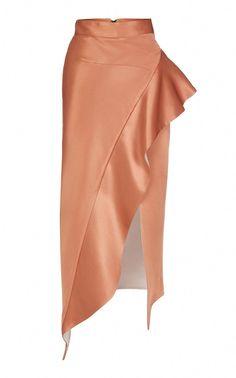 Drewdrop Satin Asymmetrical Pencil Skirt by Maticevski Pencil Dress Outfit, Pencil Skirt Outfits, Pencil Skirts, Satin Pencil Skirt, Pencil Dresses, Blouse And Skirt, Dress Skirt, Corset Dresses, Denim Skirt