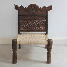 Tribal Wooden Pida Chair – Horse. Draw in your seating arrangements with this…
