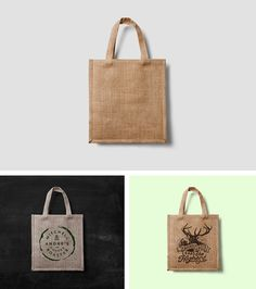 Use this realistic fabric bag mock-up, to present your logos, artworks, badges or labels in a gorgeous...