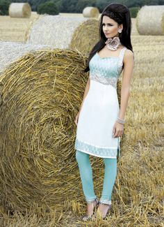 White & Blue Churidhar - Asiana - Asian Lifestyle & Wedding Magazine, Bridal Magazine UK