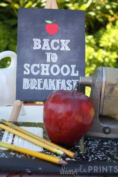 Back to School Breakfast by DimplePrints FREE PRINTABLES 4