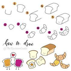 Cheesy croissants? PB&J? Multi grain? Eggs on toast? What's your choice? #TRG_RandomDoodle . . . . . . #toast #croissant #bread …