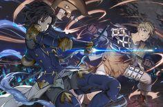 Lancelot and Vane (Granblue Fantasy) Anime Kunst, Anime Art, Granblue Fantasy Characters, Character Inspiration, Character Design, Shingeki No Bahamut, Fantasy Male, Art Series, Samurai Warrior