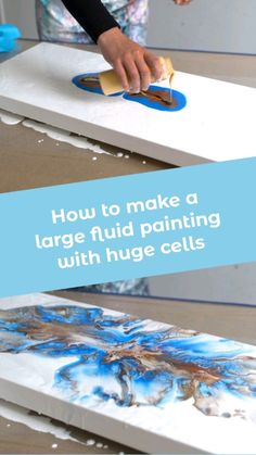 Fluid art large puddle pour How to do acrylic pouring by rinske douna . Abstract Art Painting, Marble Art, Abstract Painting, Art Painting Acrylic, Art, Acrylic Pouring Art, Painting Crafts, Painting Projects, Abstract