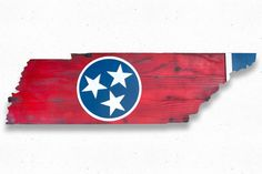 """Flag sizes available: 48x13"""" State Cutout with raised circle/stars and right…"""