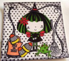 mimi Halloween themed scrapbooking embellishment handmade