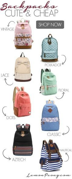 Cute Cheap Backpacks! Back to School Styles that are fun and affordable!