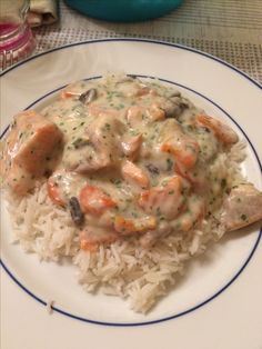 Blanquette de poissons aux légumes Risotto, Mousse, Food And Drink, Health Fitness, Chicken, Meat, Ethnic Recipes, Health Foods, Sauces