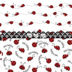Ladybugs Print featuring the digital art Innocent Ladybugs by Debra Miller Ladybug Cookies, Ladybug Art, Thing 1, Pretty Patterns, Bullet Journal Inspiration, Cool Wallpaper, All Print, Sewing Hacks, Fine Art America