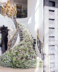 10 Reasons We're Falling in Love with Baby's Breath for Your Wedding Florals - Green Wedding Shoes Wedding Stairs, Wedding Arches, Church Wedding, Fall Wedding, Rustic Wedding, Floral Wedding, Wedding Flowers, Aisle Flowers, Flower Bouquets