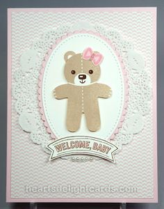 Cookie Cutter Christmas, Heart's Delight Cards: Baby Bear