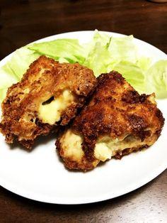 鶏胸肉のチーズはさみ揚げ焼き by IORI☺︎︎︎︎ 【クックパッド】 簡単おいしいみんなのレシピが327万品