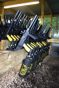 Tippman 98 paintball markers at Delta Force Paintball Southampton centre. #paintball
