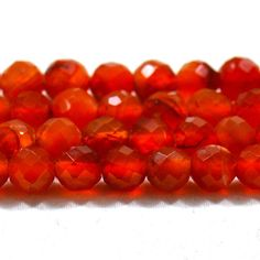 Carnelian Beads Carnelian Beads String Faceted by ExploreBeads
