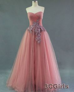 Light pink tulle strapless sweetheart formal dress, prom dress 2016, ball gown for teens, bridesmaid dress from #3cgirls #weddings -> http://www.3cgirls.com/#!product/prd1/4225707041/light-pink-tulle-strapless-sweetheart-formal-dress