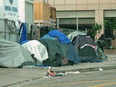 Tent City, downtown L.A.
