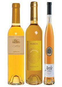 The Decadent Dessert Three Bottle Wine Set: Anselmi I, Planeta Moscato di Noto and Arele Vino Santo #wine #1877spirits #gifts