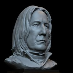 $120 bust of Severus Snape (Alan Rickman) on Ponoko