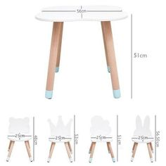 kids furniture Wooden Kids Table and Chairs Set - Minime Mini Me Ltd Simple Furniture, Kids Bedroom Furniture, Inexpensive Furniture, Art Deco Furniture, Baby Furniture, Furniture Design, Rustic Furniture, Upcycled Furniture, Furniture For Kids