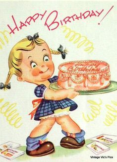 Vintage 1960 Hi Happy Birthday Greetings Card (B2) | Happy ...