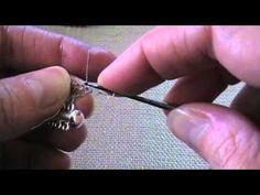 Wire Crochet Bracelet with Beads Tutorial; learn basic crocheting first. Wire Jewelry, Jewelry Crafts, Wire Wrapped Jewelry, Beaded Jewelry, Handmade Jewelry, Crochet Metal, Bead Crochet, Crochet Crafts, Bracelet Tutorial