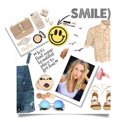 """""""Smile)"""" by nastyaly ❤ liked on Polyvore featuring self-portrait, Guild Prime, Valentino, PhunkeeTree, Casetify, Big Bud Press, Aamaya by priyanka, Steve Madden, Alison Lou and LORAC"""