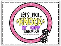 "Knock it Off!"" {A fun subtraction game}"