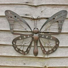 Large decorative metal butterfly garden wall art black brown finish #garden #butterfly #wallart