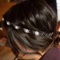 Souviens Threaded Pearl Headband   Chloe + Isabel
