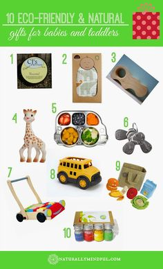 Naturally Mindful: 10 Eco-Friendly & Natural Gifts for Babies