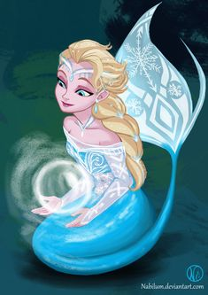 Elsa as an Ice Mermaid... Wouldn't that suck though? Being a mermaid in WATER…