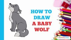 Wolf Drawing Easy, Romulus And Remus, Cartoon Wolf, Baby Wolves, Drawing Tutorials For Beginners, Popular Cartoons, Little Pigs, Step By Step Drawing, Tutorials