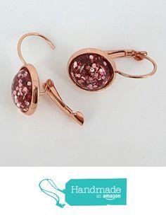 Rose Gold-tone Metallic Glitter Resin Lever-back Drop Earrings 12mm from Summerfield Collection https://www.amazon.com/dp/B071SLLM3W/ref=hnd_sw_r_pi_dp_fkBmzbH168RKX #handmadeatamazon