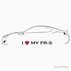 I love my FR-S (light background) I Love My Father, Car Silhouette, Car Prints, Lights Background, Automotive Design, Originals, Templates, Stencils, Vorlage